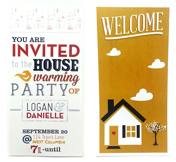 housewarming invitations on behance