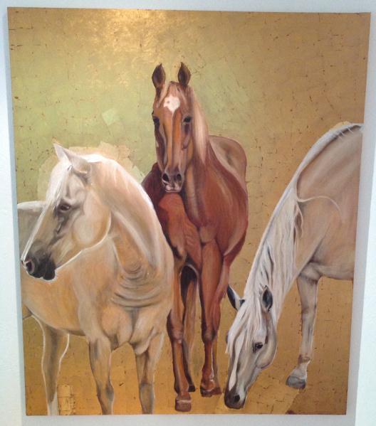 Image may contain: horse, wall and animal