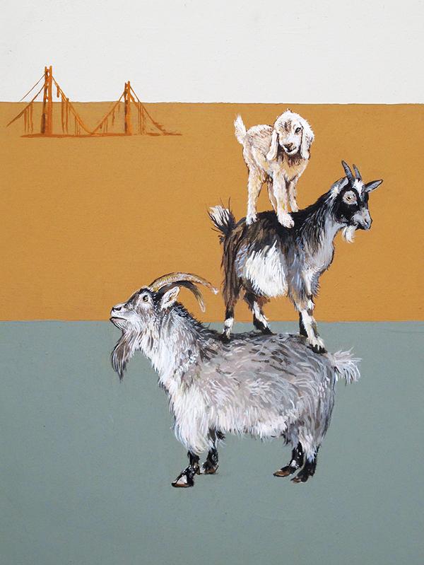 series animals fairytales goat bear pig rat three