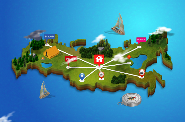 Isometric map generator on behance 3d city and map generator gumiabroncs Choice Image
