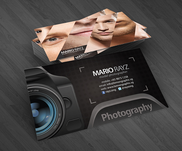 Professional photographer business cards on behance for Videographer business cards
