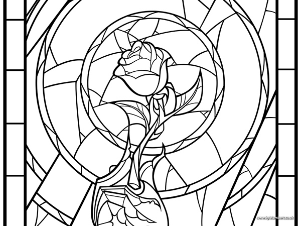 rose art coloring pages - photo#36
