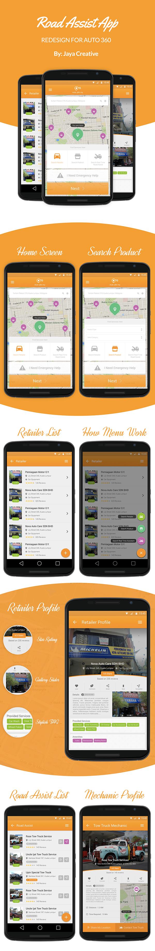 Navigation App Android App Road Assist App Assistance App map navigation