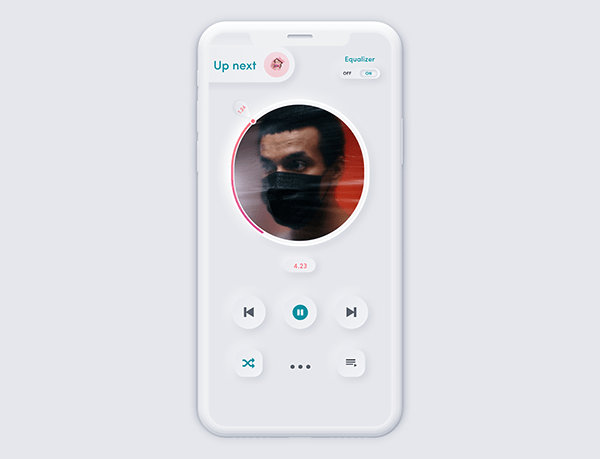 music player mobile UI daily UI challenge day 09