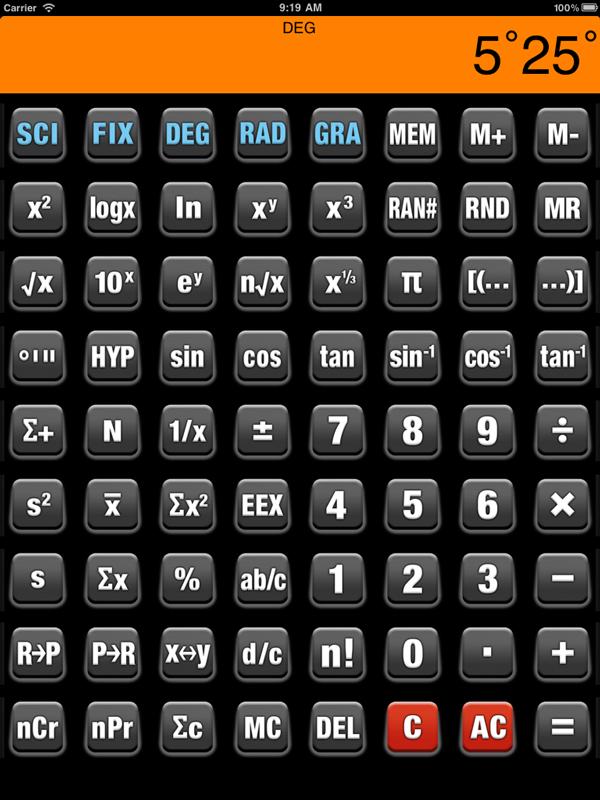 Calculator scientific app.