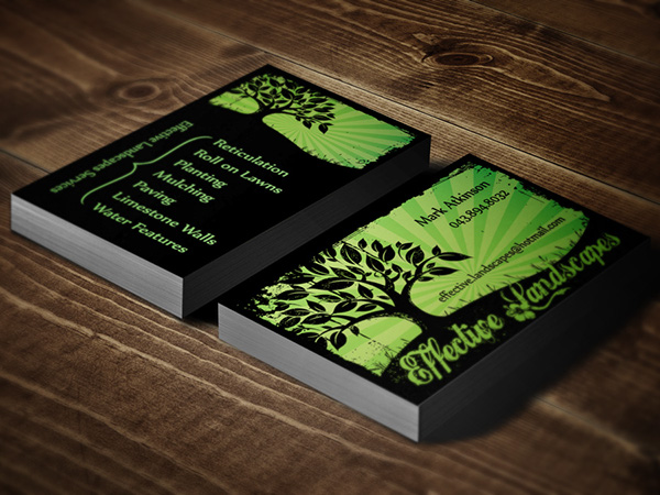 Landscaping Business Cards on Behance