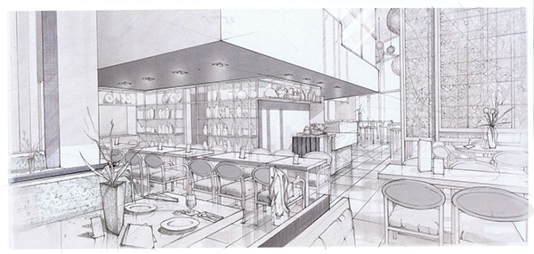 Interiors in graphite sketches on behance