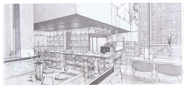 Proposed Restaurant Interior In Greenbelt Makati Philippines Final Sketch