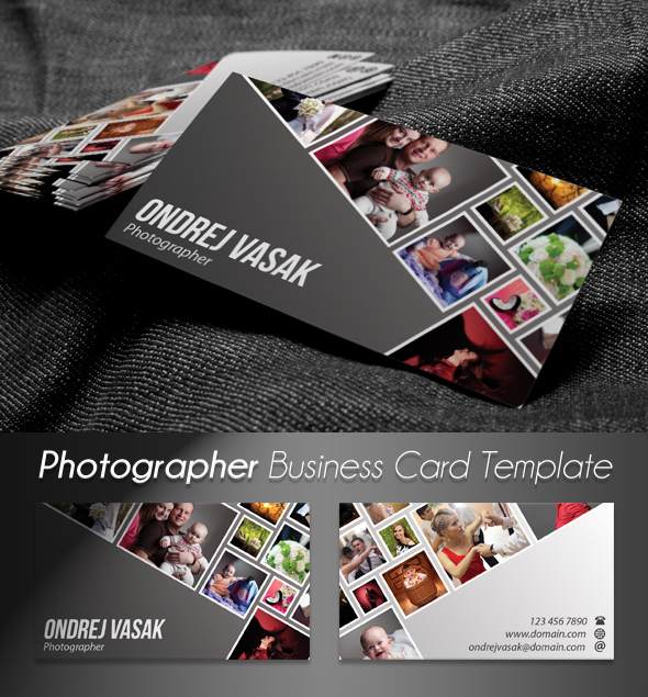 Photographers business card template psd on behance 300 dpi cmyk ready for print wajeb Images