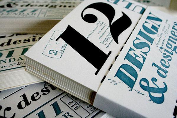 有設計感的36張月曆設計欣賞