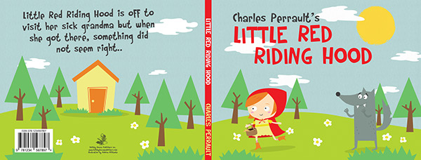 Where Is The Illustration On The Front Cover Of A Book : Little red riding hood book covers on behance