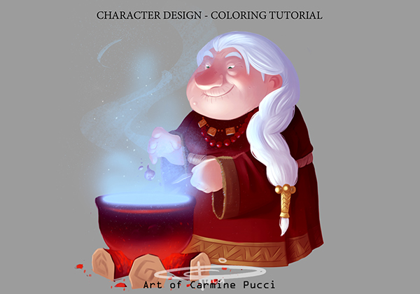 Character Design - Coloring Tutorial by Carmine Pucci