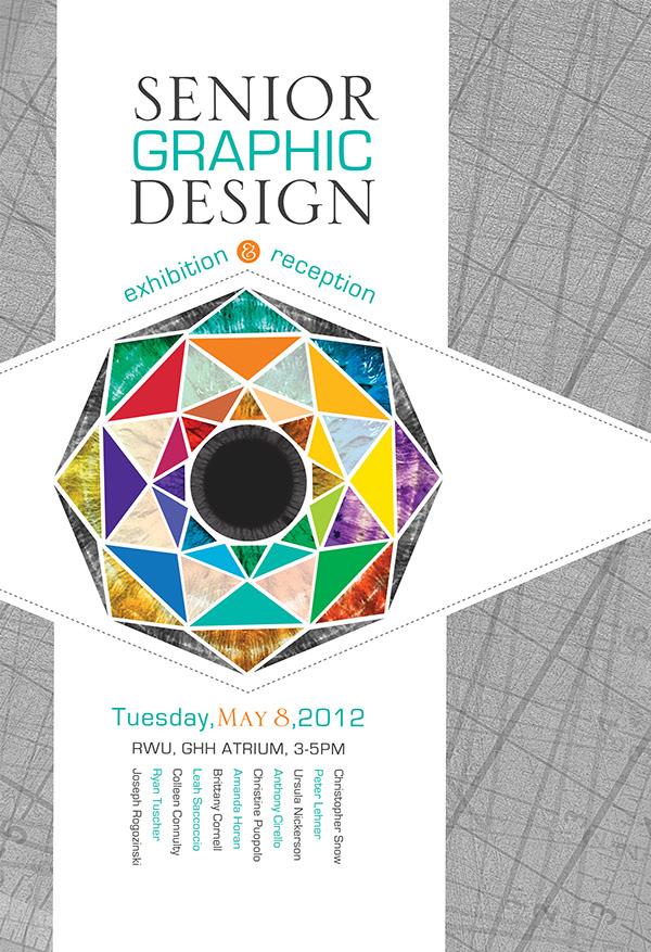 senior graphic design show poster on behance. Black Bedroom Furniture Sets. Home Design Ideas