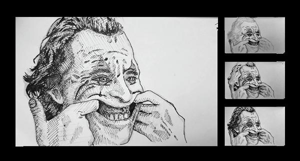 Crosshatch Joker Sketches On Behance