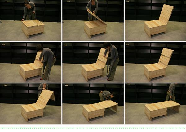 ecodiseño mobiliario dinámico cajas de embalaje