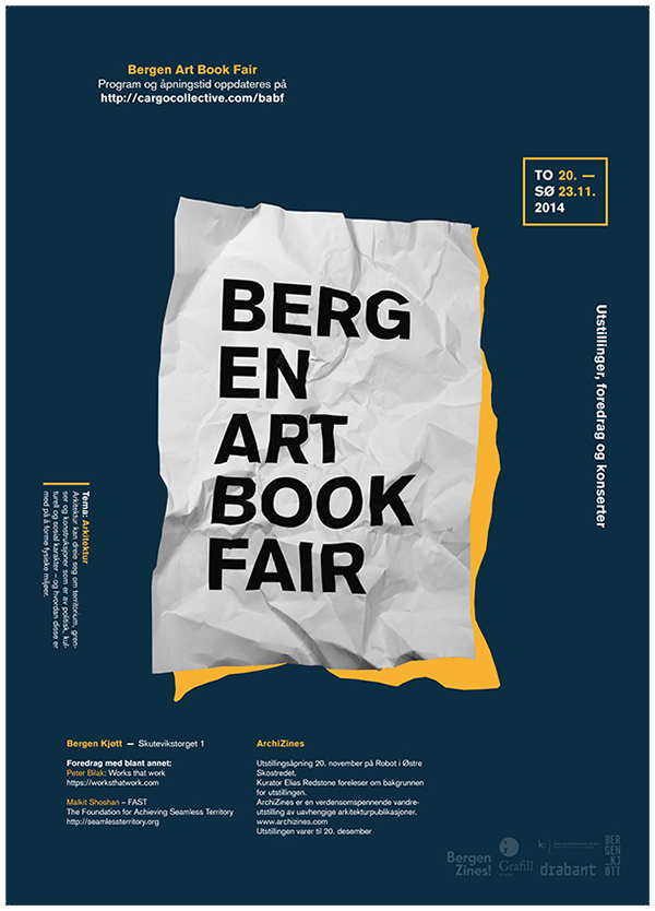 BABF bergenartbookfair khib Bergen norway poster