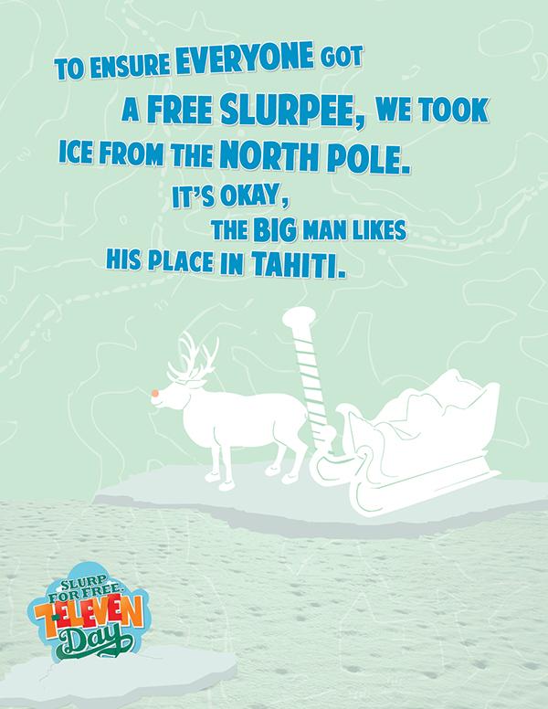 ice, Slurpee, 7/11, Seven Eleven,advertisement,cold, polar bear,Slushie,gas station,hockey,Seven Eleven Day