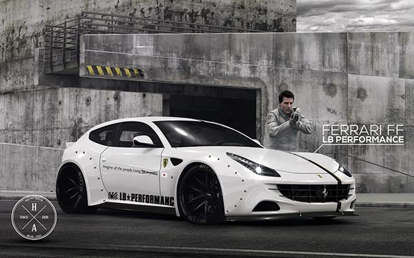 Liberty Walk Ferrari Ff On Behance
