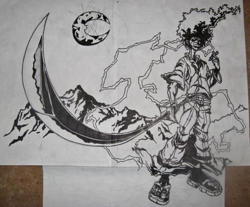 Afro Samurai Drawings Afro Samurai on Behance
