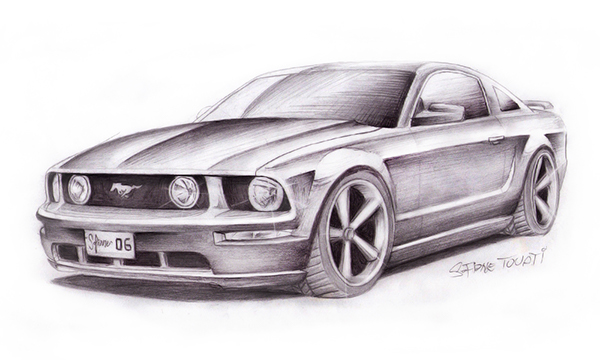 mustang drawings  archives  on behance