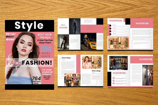 magazine cover and layout design