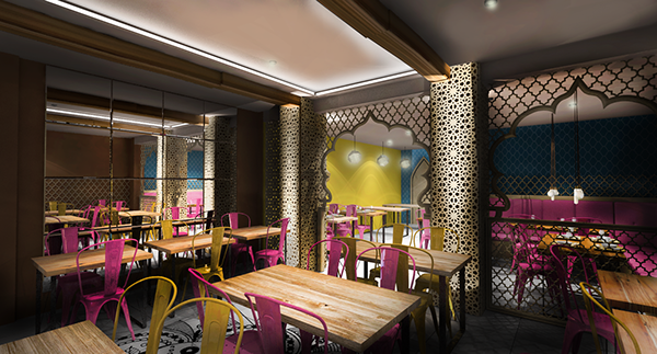 Indian restaurant concept design london haringey on behance