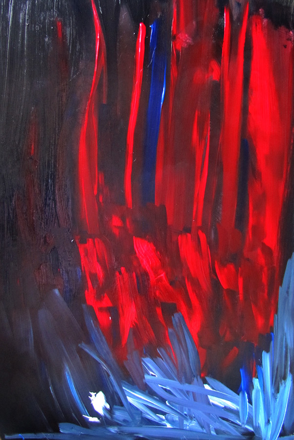 abstract red acrylic