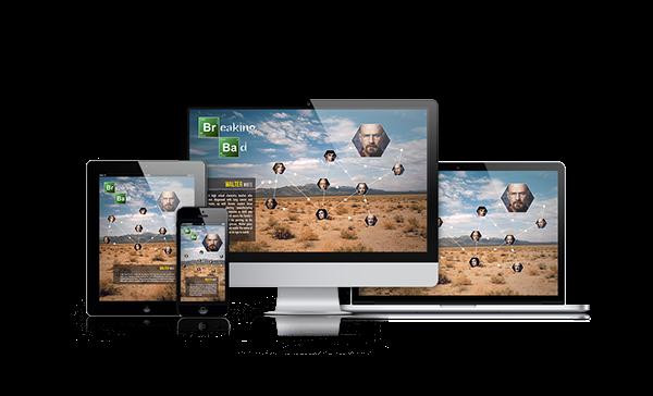 interactive Website breaking bad green molecules walter white tv
