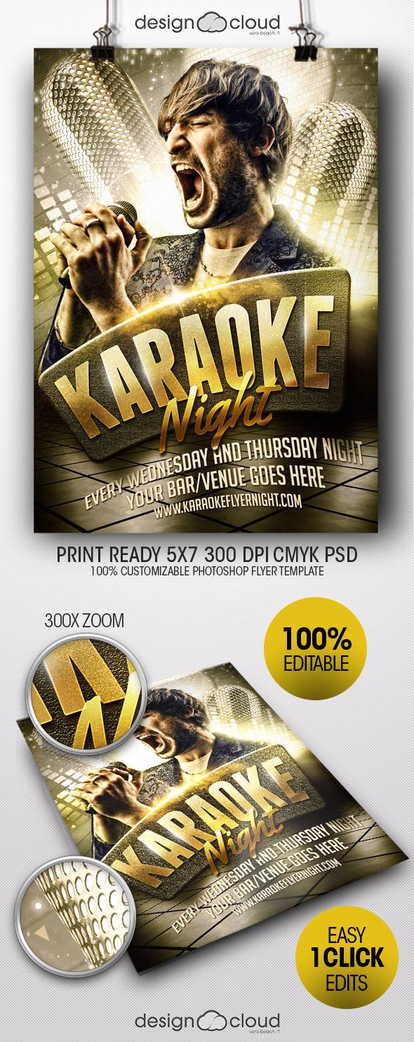 Karaoke Night Flyer Template On Behance