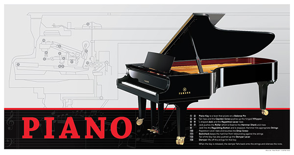 Infographic tutorial illustrator beginners piano