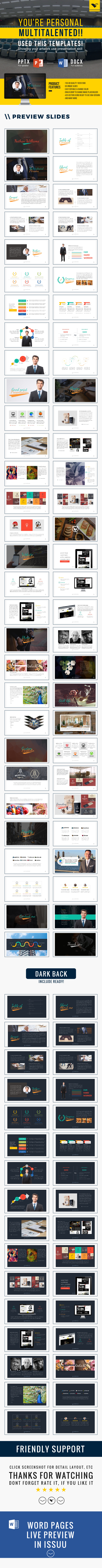 Multitalent personal portfolio powerpoint template on behance and print template is the ultimate portfolio presentation powerpoint template lets prepare your self and portfolio for next new year 2016 toneelgroepblik Gallery