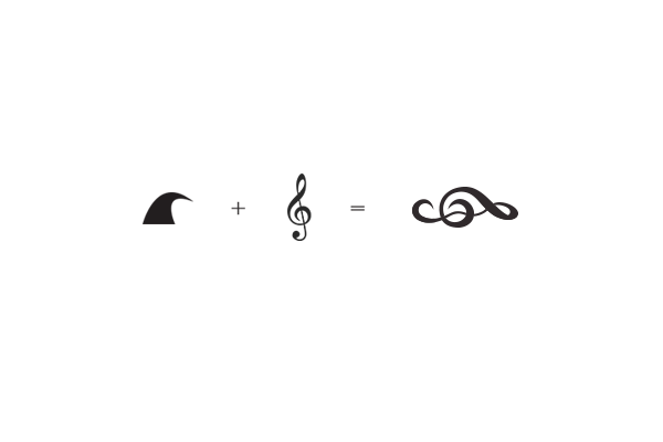 brand logo design band artist festival concept idea Music Festival Stage Seaside