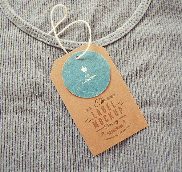 labels tags insignia Mockup clothes brand price tag