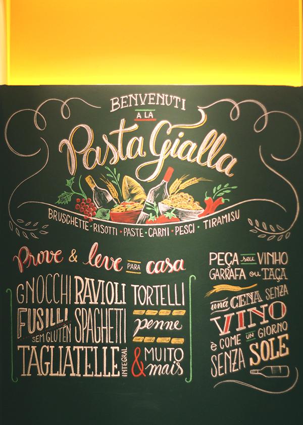 La Pasta Gialla On Typography Served