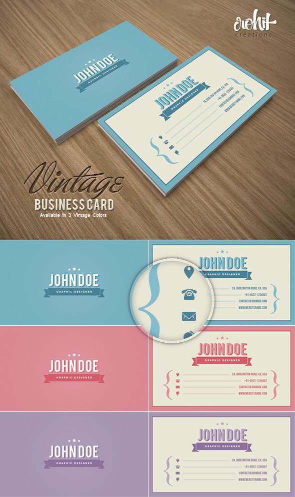 Vintage Business Card on Behance
