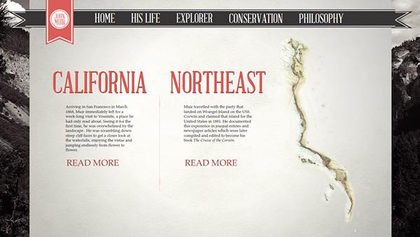 john muir Web design Retro Nature