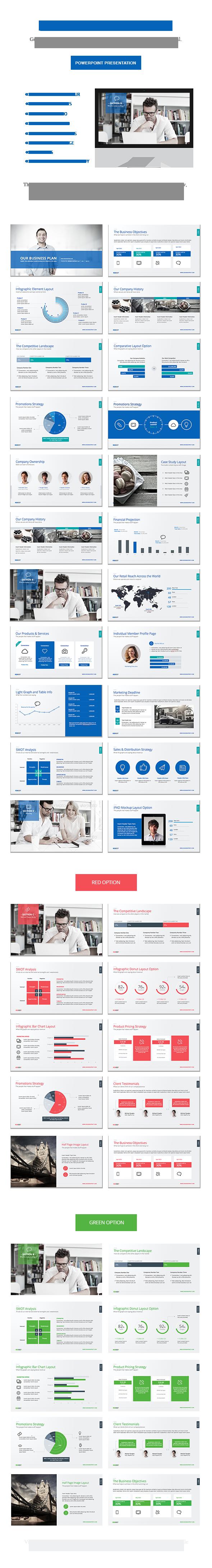 business plan powerpoint on behance