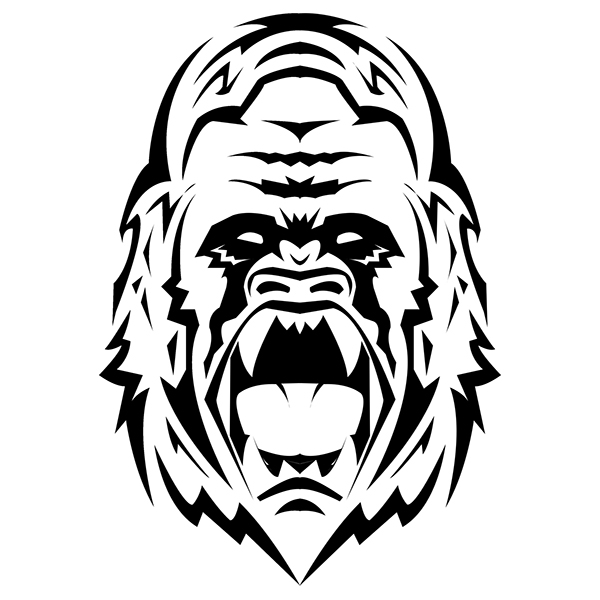 Angry Gorilla Drawing Pictures to Pin on Pinterest - PinsDaddy