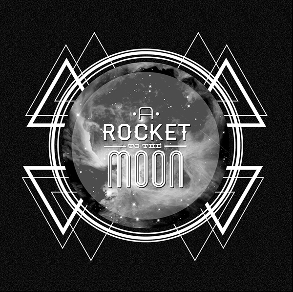 a rocket to the moon digital booklet album cover on
