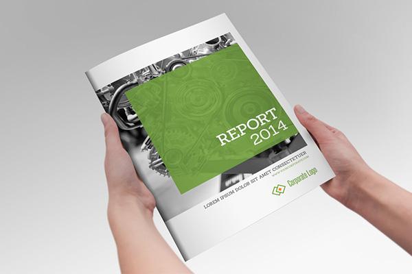 annual report clean indesign brochure on behance. Black Bedroom Furniture Sets. Home Design Ideas