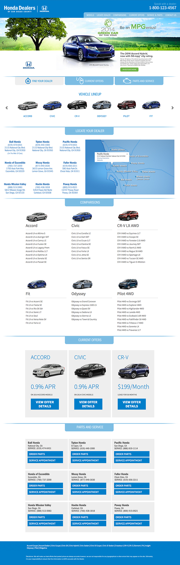 Honda Dealers San Diego Other Graphic Design Projects On Behance