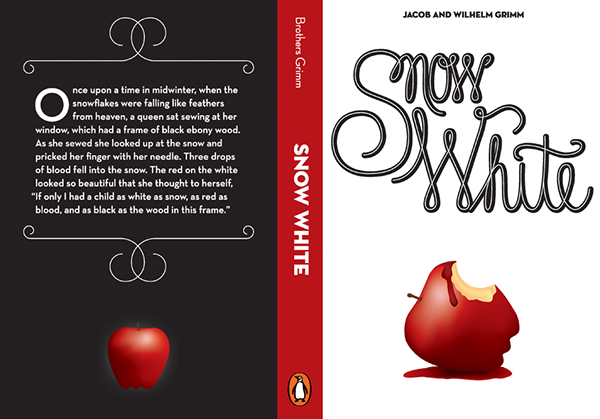 Book Cover White Kitchen ~ Snow white book cover on behance