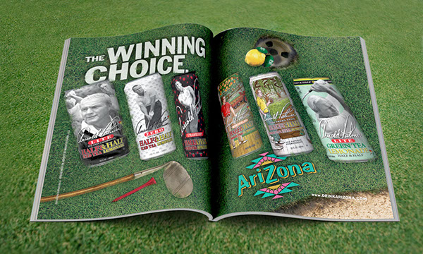arnold palmer,Mpire,Arizona Beverages,video direction,ad design,ad development,Product Production,Print & Digital