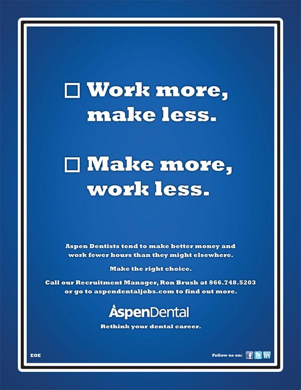 Aspen Dental Recruitment Print on AIGA Member Gallery