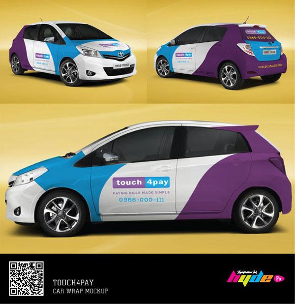 logo brand identity car wrap