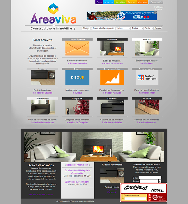 Website Real State search engine system gray logo corporative image