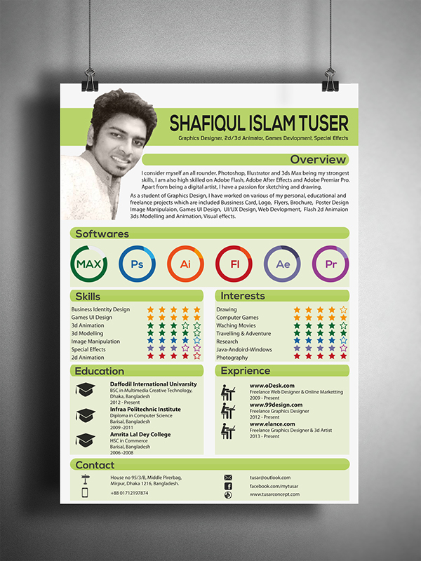 Creative Resume Cv Design On Behance