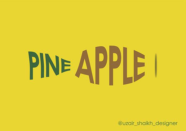 Typography   Pineapple   Design