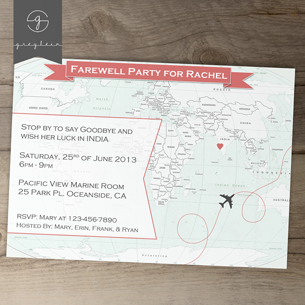 New Going Away Party Invites 5 on Behance – Goodbye Party Invitation
