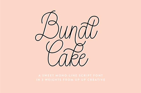 Bundt Cake Script Font On Behance
